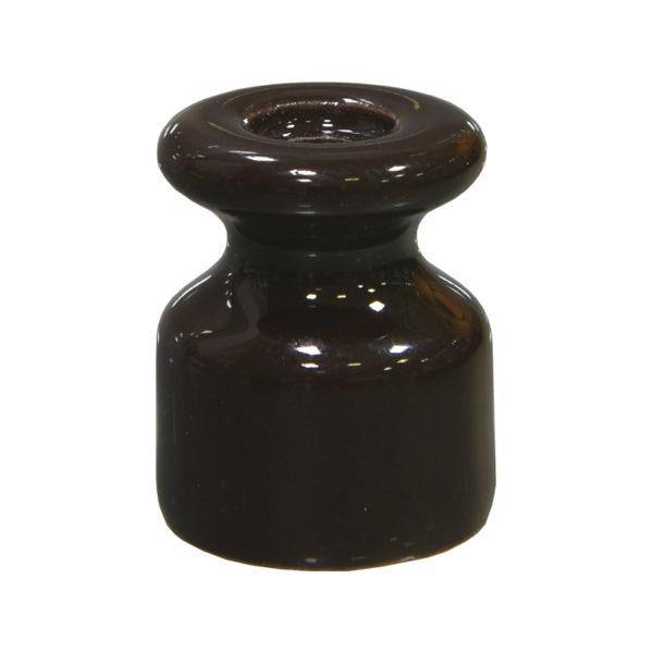 Изолятор керамический коричневый Lindas