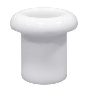 Втулка керамическая для сквозного отверстия белая Lindas