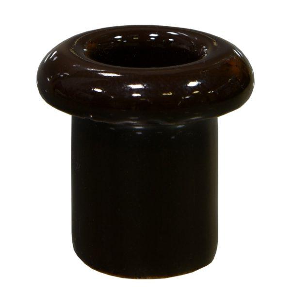 Втулка керамическая для сквозного отверстия коричневая Lindas