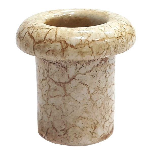 Втулка керамическая для сквозного отверстия мрамор Lindas