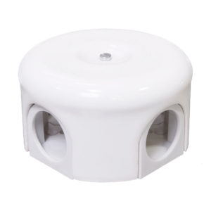 Соединительная керамическая коробка 78 mm белая lindas