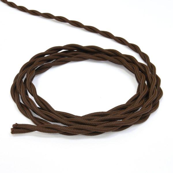 Провод витой ретро 2х15 коричневый