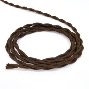 Провод витой ретро 2х25 коричневый