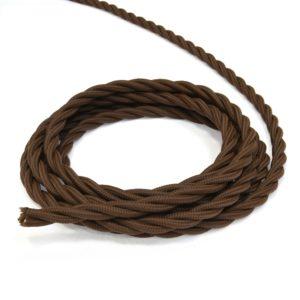 Провод витой ретро 3х25 коричневый