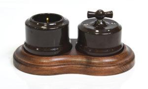 Блок из розетки и выключателя Линдас