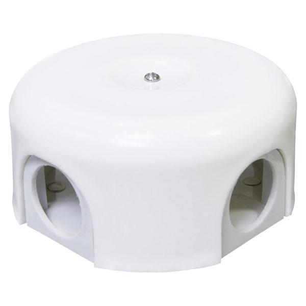 Соединительная керамическая коробка 90 mm белая lindas
