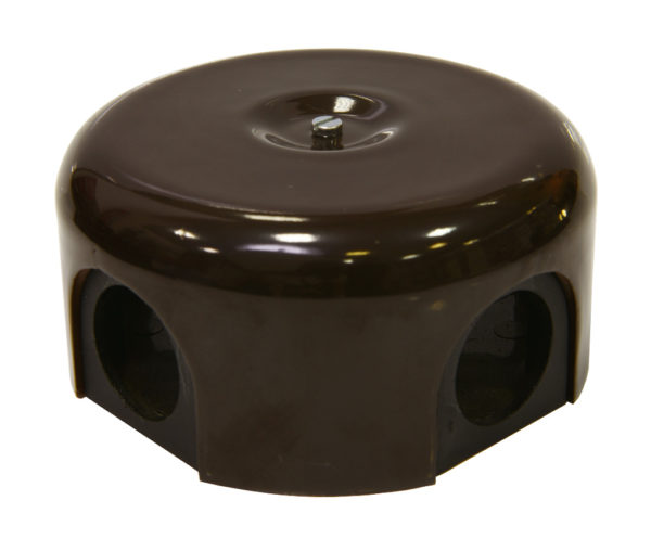 Соединительная керамическая коробка 90 mm коричневая lindas