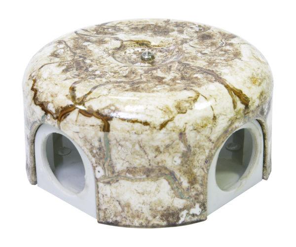 Соединительная керамическая коробка 90 mm мрамор lindas