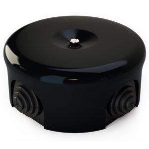Соединительная керамическая коробка 90 mm черная lindas