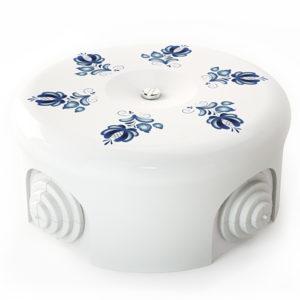 Соединительная керамическая коробка 90 mm орнамент 3 гжель lindas