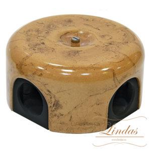 Соединительная керамическая коробка 90 mm капучино lindas