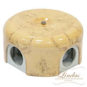 Соединительная керамическая коробка 90 mm карамель lindas